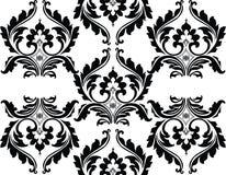 Teste padrão preto e branco floral clássico do ornamento Ilustração do Vetor