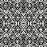 Teste padrão preto e branco geométrico simples Fotografia de Stock Royalty Free