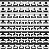 Teste padrão preto e branco grego do vetor da telha Fotografia de Stock Royalty Free