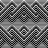 Teste padrão preto e branco por linhas Imagens de Stock Royalty Free