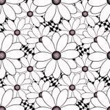Teste padrão preto e branco sem emenda Imagens de Stock Royalty Free