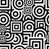 Teste padrão preto e branco sem emenda Imagens de Stock