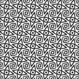 Teste padrão preto e branco sem emenda Fotografia de Stock
