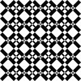 Teste padrão preto e branco sem emenda abstrato - ilustração Fotografia de Stock