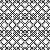 Teste padrão preto e branco sem emenda com quadrado Foto de Stock Royalty Free