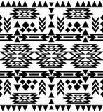 Teste padrão preto e branco sem emenda do navajo Foto de Stock Royalty Free