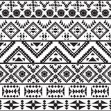 Teste padrão preto e branco sem emenda do navajo Fotos de Stock Royalty Free