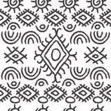 Teste padrão preto e branco sem emenda do navajo Imagem de Stock Royalty Free