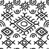 Teste padrão preto e branco sem emenda do navajo Imagens de Stock