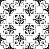 Teste padrão preto e branco sem emenda do sumário 18, papel de parede do fundo, vetor editável, ilustração ilustração stock