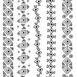 Teste padrão preto e branco sem emenda do vetor Imagens de Stock Royalty Free