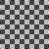 Teste padrão preto e branco sem emenda do vetor Fotografia de Stock Royalty Free