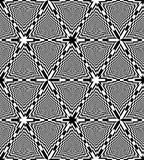 Teste padrão preto e branco sem emenda dos triângulos do tabuleiro de xadrez Fundo abstrato geométrico Ilusão ótica da perspectiv Fotografia de Stock Royalty Free