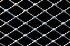 Teste padrão preto e de prata Fotografia de Stock Royalty Free