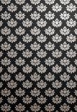 Teste padrão preto e de prata vertical do encanto Fotografia de Stock Royalty Free