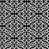 Teste padrão preto sem emenda do ornamento ilustração royalty free