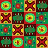 Teste padrão primitivo africano nos quadrados ilustração stock