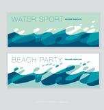 Teste padrão puro abstrato da água ilustração royalty free