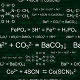 Teste padrão químico sem emenda ilustração royalty free
