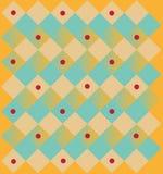 Teste padrão quadrático abstrato Foto de Stock Royalty Free