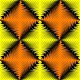 Teste padrão quadrado amarelo sem emenda Fundo do papel de envolvimento do vetor Fotografia de Stock