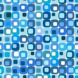 Teste padrão quadrado azul retro Foto de Stock Royalty Free