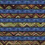 Teste padrão quadrado colorido do estilo artístico sem emenda nativo do boho da aquarela Fotografia de Stock Royalty Free