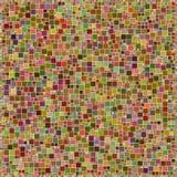 Teste padrão quadrado colorido do projeto do mosaico de Brown Fotografia de Stock Royalty Free