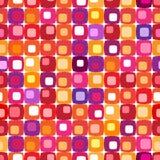 Teste padrão quadrado colorido retro ilustração stock