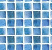 Teste padrão quadrado da aquarela Fotos de Stock