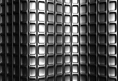 Teste padrão quadrado de prata abstrato Fotografia de Stock