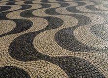 Teste padrão quadrado do quadrado de cidade de Pedro IV Lisboa Fotos de Stock
