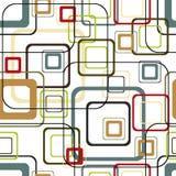 Teste padrão quadrado vívido retro Imagens de Stock