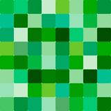 Teste padrão quadrado verde Imagens de Stock Royalty Free