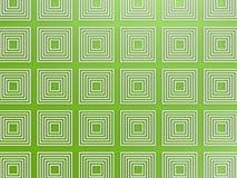 Teste padrão quadrado verde Foto de Stock Royalty Free