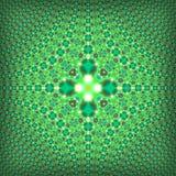 Teste padrão quadrado verde psicadélico do Fractal Imagem de Stock