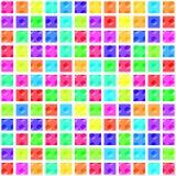 Teste padrão - quadrados com botões #2 Foto de Stock