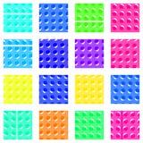 Teste padrão - quadrados com botões Foto de Stock Royalty Free