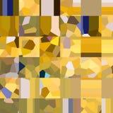 Teste padrão quadriculado amarelo Mosaico de formas geométricas Polígono coloridos abstraia o fundo Fotos de Stock
