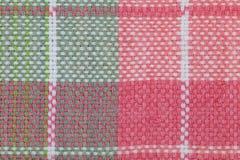 teste padrão quadriculado da toalha de mesa Foto de Stock Royalty Free
