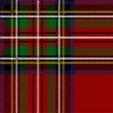 Teste padrão quadriculado no estilo escocês tartan Um teste padrão geométrico do Natal clássico Tela vermelha de lã Fotografia de Stock Royalty Free