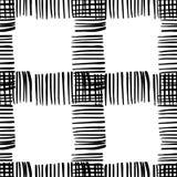 Teste padrão quadriculado preto e branco Foto de Stock Royalty Free
