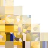 Teste padrão quadriculado quadrado amarelo Mosaico de formas geométricas Polígono coloridos Fundo abstrato com espaço vazio Imagem de Stock