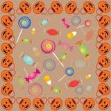 Teste padrão quatro de Halloween ilustração stock