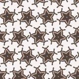 Teste padrão rústico de Lino Cut Texture Seamless Vetora das estrelas do inverno, estrelado esboçado ilustração do vetor