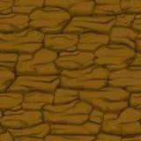 Teste padrão rachado da terra marrom, textura sem emenda do solo ilustração royalty free