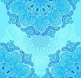 Teste padrão radial azul sem emenda Imagem de Stock Royalty Free