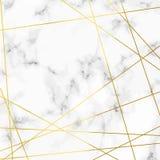 Teste padrão realístico de pedra de mármore luxuoso com linhas douradas sobre Foto de Stock Royalty Free