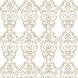 Teste padrão real elegante do ornamento do damasco do vintage Fotos de Stock Royalty Free