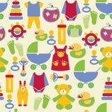 Teste padrão recém-nascido do material do bebê - ilustração Imagem de Stock